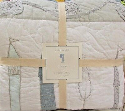 Pottery Barn Kids Starla Ice Castle Twin Quilt, Brand New & Free Fast Shipping