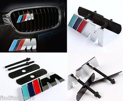 3D BMW M power Grill Front grill Metal Emblem Badge Decal Logo Car Auto Trunk