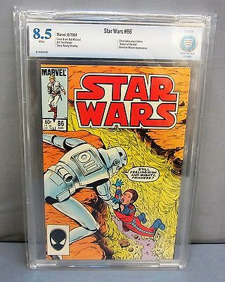 STAR WARS #86 (White Pages) CBCS 8.5 VF+ Marvel Comics 1984 cgc