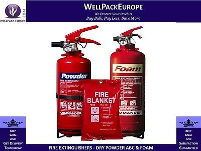 Fire Extinguishers - Dry Powder Abc & Foam - House Office Boat Car *all Sizes*