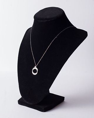 Diamond and Sterling Silver Circle Necklace - SALE $11.40