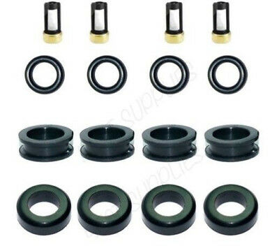 4 CYL 2.0 Quality Fuel Injector Seal Kit Viton Orings Filters For Kia CSKDN34
