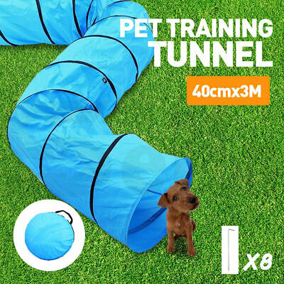 PaWz Outdoor Waterproof Pet Dog Agility Training Exercise Long Tunnel 3M NEW