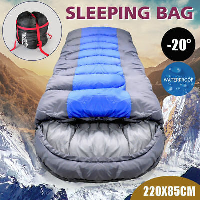 -20° Degree Thermal Single Outdoor Camping Sleeping Bag Envelope Mat Tent Hiking