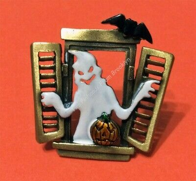Halloween Ghost At The Window Brooch