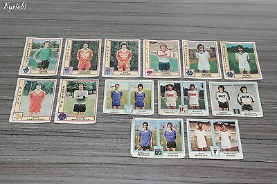 Lot 13 images stickers France vintage Europe 1 Panini Foot 1980 ♦ Football 80