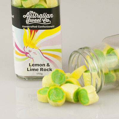 Lemon/Lime Rock Candy boiled Bulk Lollies Wedding Favours Party Christmas