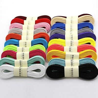 Hot Flat Shoelaces Student Athletic Running Sneaker Shoestring Sports Shoe Laces