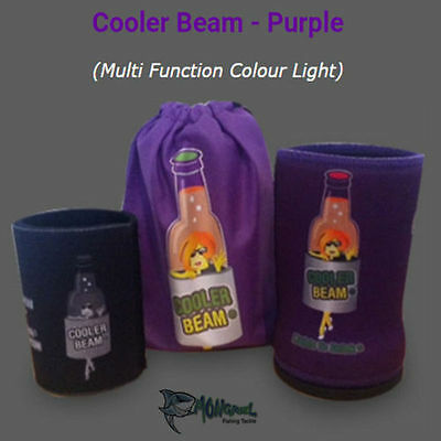 NEW 1 x PURPLE Cooler BEAM Stubby Cooler Torch's-Party's Wedding Fishing Camping