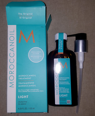 Light Moroccan Oil Hair Treatment 4.23 Oz Original Box With PUMP free shipping