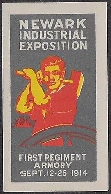 USA Poster Stamp: 1914 Newark Industrial Exposition (dw211)