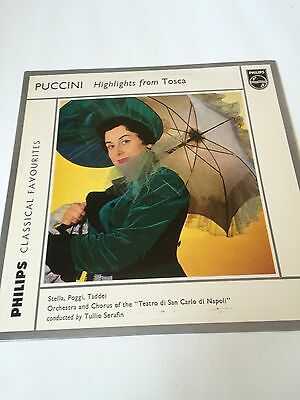 Puccini - Highlights from Tosca, 1958, Classical, Opera,LP