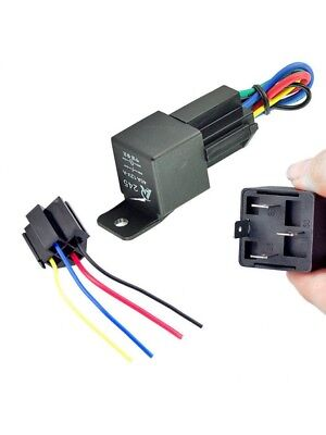 Preptec 12V 12Volt 40A Auto Automotive Relay Socket 40 Amp 4 Pin Relay & Wires
