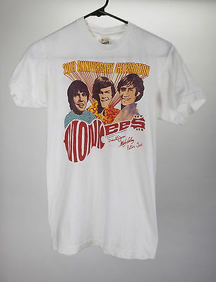 Vintage The Monkees 20th Anniversary 1986 World Tour Concert T-Shirt