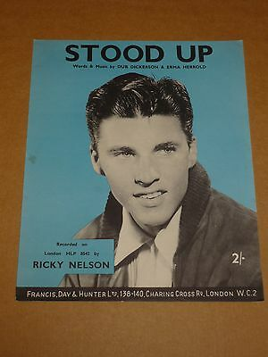 "Ricky Nelson ""Stood Up"" sheet music"
