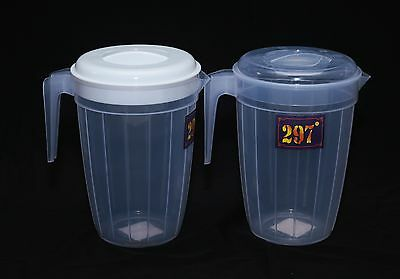 297 Plastic 2 litre multi purpose pitcher jug with Lid Juice water picnic