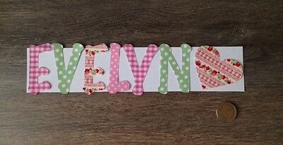 Any 7 Die Cut Iron On Sew On , Glue On Fabric Letters & Numbers Personalised New