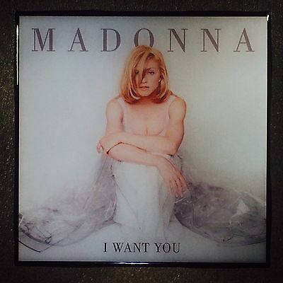 MADONNA I Want You Record Cover Ceramic Tile Coaster