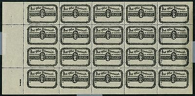 #ox27 Full Sheet Unlisted Error Imperf Horizontal 5 Pairs W/ Pse Unique Wlm1934