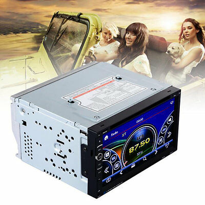 7in  Touch Screen Car Stereo CD DVD Player USB SD Bluetooth FM Radio#C