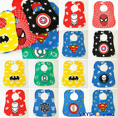 Baby Boys Girls Marvel Bandana Bib Dribble Tie Bibs Feeding Smock Saliva Towels