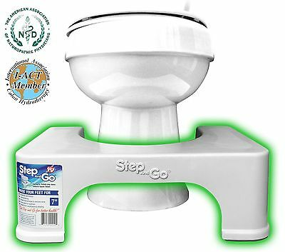 "Step and Go Toilet Step 7"" - Proper Posture Squatty Potty NO MORE CONSTIPATION"