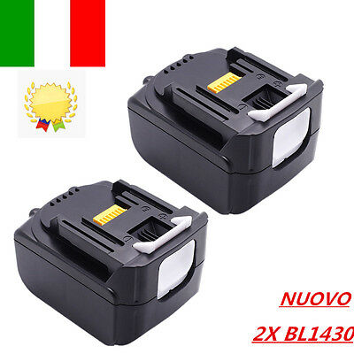 2X MakitaBL1430  Batteria per 14,4V 3,0Ah 3Ah 3000mAh Litio Lithium-ion 194065-3