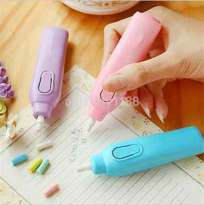 Useful Battery Operated Electric Eraser Automatic School Supplies Stationery US