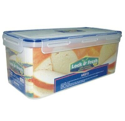 3.8L Clip & Lock Airtight Bread Bin Food Container Storage Box Freeze Microwave