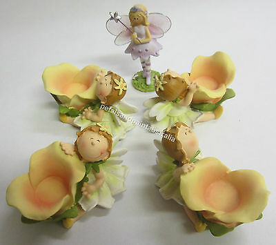5 New Fairy Ornament Suits a Fairy Garden, Birthday Cake Topper & Party Favors