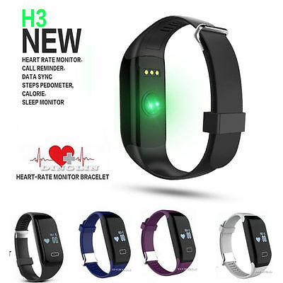 HOT H3 Smart Bracelet Watch Heart Rate Monitor Touch Fitness Wristband Pedometer