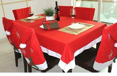 Christmas Red Tablecover Table Cover Cloth Skirts Xmas Home Restaurant Decor