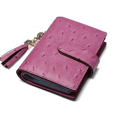 Teemzone Genuine Leather Business Credit Card Case Holder Organizer Rose