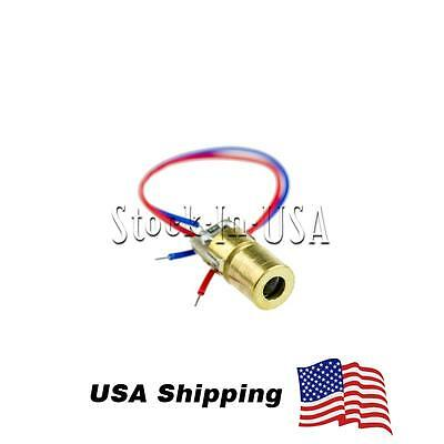 10PCS 5V 650nm 5mW Laser Red Dot Module sight Laser Diode Laser pointer