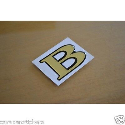 BESSACARR - (RESIN DOMED) - Rear Name Letter Sticker Decal Graphic - SINGLE