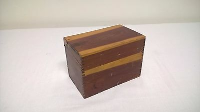 Cedar Index File Recipe Box Dovetail Joints