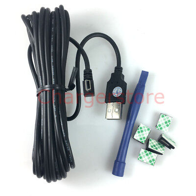4M Right angle MINI USB power charger cable for DOD/Mio CAR dash cam Garmin GPS
