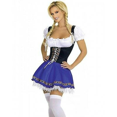 Oktoberfest Halloween Costume Ladies Deluxe German Beer Maid Bavarian Costume