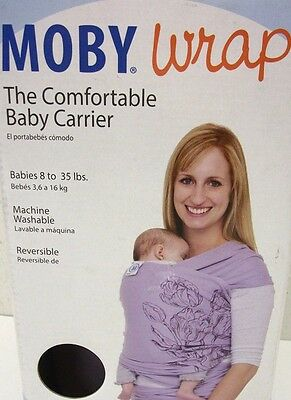 Moby Wrap Baby Carrier Tulip Design 8-35 lbs NEW Reversible One Size infant