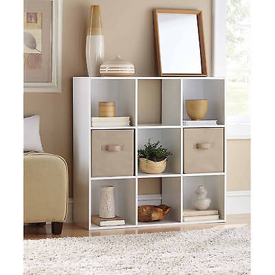 9 Cube Organizer Storage White Stackable Bookcase Dorm Home Office Organization