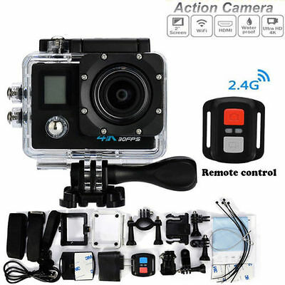 Pro Cam 4K Action Doppio Screen Camera Wifi Ultra Hd Videocamera Con Telecomando