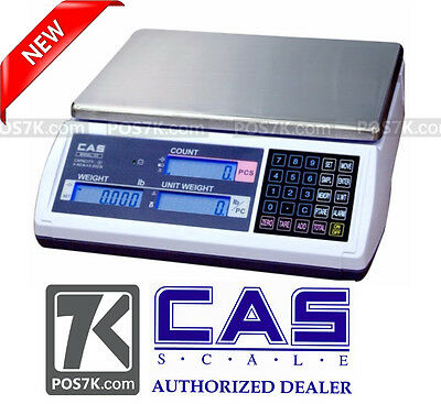 Cas EC-6 Series Precision Counting Scale Stain Steel Platter 6 LB , 0.0002lb