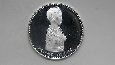 1971 Dahomey 500 Francs Femme Oueme Silver Proof coin