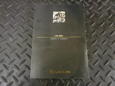 2001 Lexus Ls430 4.3 V8 4Dr Auto Saloon Owners Manual / Handbook