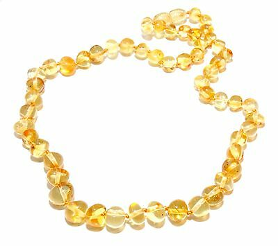 Genuine Baltic Amber Beads Necklace for Adult Honey 44 - 46 cm