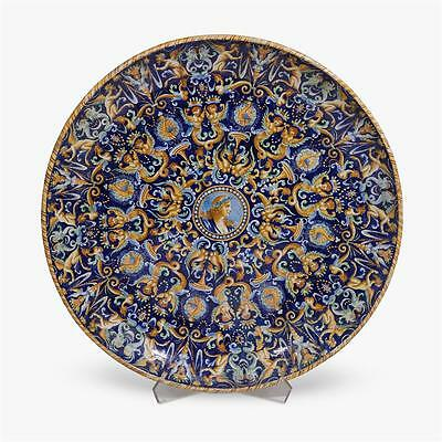 19th Century Large Italian maiolica charger