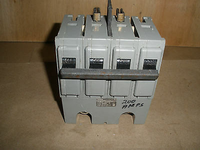 Used ITE Gould Q2200B type QPPH 200A 2 pole 120/240VAC bolt in circuit breaker