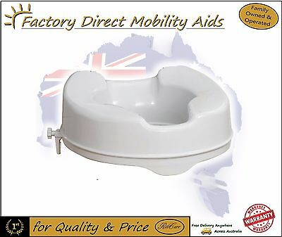 """Raised Toilet seat 4"""" 100mm Without Lid easy clip on. Great Quality!"""