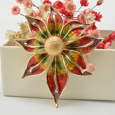 Color Leaf Brooches Pins Women Fashion Elegant Brooch for Party Banquet