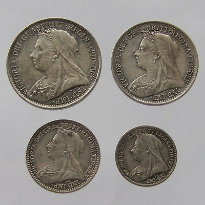 Victoria, Maundy set, 1898, uncirculated